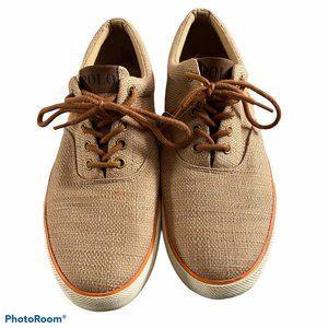 Polo Ralph Lauren Brown Lace Canvas Faxon Low Shoe